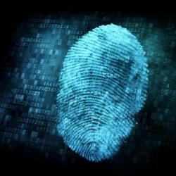 identiteit van de vingerafdruk
